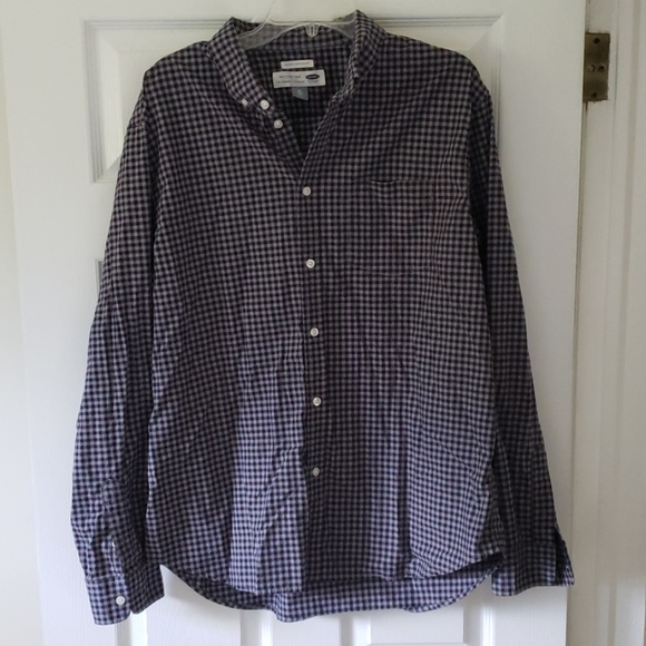 Old Navy Other - Old Navy Blue Checked Long Sleeve Button Up